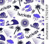hurricane natural disaster... | Shutterstock .eps vector #717521419