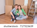 home  people  moving and real... | Shutterstock . vector #717523639