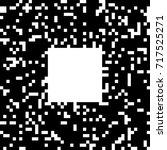 black and white pixel art. ... | Shutterstock .eps vector #717525271