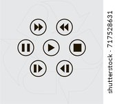 media player control button | Shutterstock .eps vector #717528631