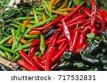 multicolored peppers on borough ...   Shutterstock . vector #717532831