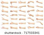 multiple images set of female... | Shutterstock . vector #717533341