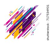 vector illustration of colorful ... | Shutterstock .eps vector #717534931
