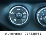 the air conditioning knob in...   Shutterstock . vector #717538951