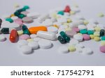 various medications and... | Shutterstock . vector #717542791