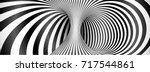 black and white lines optical... | Shutterstock .eps vector #717544861