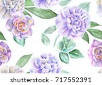 seamless floral pattern with... | Shutterstock . vector #717552391