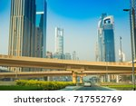 buildings on sheikh zayed road... | Shutterstock . vector #717552769