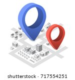 isometric city with skyscrapers ... | Shutterstock .eps vector #717554251