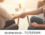 pleasant nice people greeting...   Shutterstock . vector #717555349