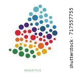 dotted texture mauritius vector ... | Shutterstock .eps vector #717557755