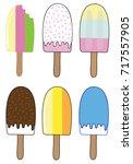 summer ice block popsicles   Shutterstock .eps vector #717557905