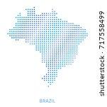brazil map  dot vector... | Shutterstock .eps vector #717558499