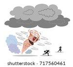 natural disaster. hurricane... | Shutterstock .eps vector #717560461