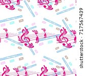 endless abstract pattern.... | Shutterstock .eps vector #717567439