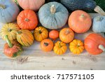 Various Pumpkins And Squashes...