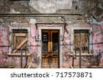 weathered house | Shutterstock . vector #717573871