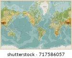 america centered physical world ... | Shutterstock .eps vector #717586057