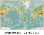 america centered physical world ... | Shutterstock .eps vector #717586111