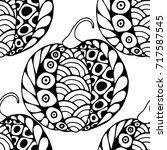 seamless halloween pattern.... | Shutterstock .eps vector #717587545