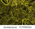 decorative  abstract ... | Shutterstock .eps vector #717590524