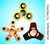 set of fidget spinners  toys... | Shutterstock .eps vector #717592951