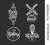bakery emblems set. handmade... | Shutterstock .eps vector #717595249