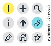 vector illustration of 9 member ... | Shutterstock .eps vector #717597274