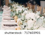 wedding decor | Shutterstock . vector #717603901