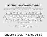 minimal graphic designer linear ...   Shutterstock .eps vector #717610615