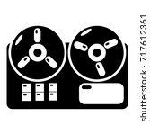 reel tape recorder icon .... | Shutterstock .eps vector #717612361