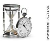 hourglass and stopwatch | Shutterstock . vector #71761738