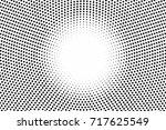 black white dotted halftone... | Shutterstock .eps vector #717625549