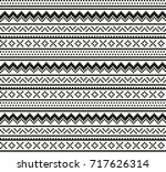 seamless geometric pixel pattern | Shutterstock .eps vector #717626314