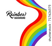 rainbow background lgbt colors. ... | Shutterstock .eps vector #717626575
