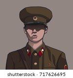 illustration of nameless north... | Shutterstock .eps vector #717626695