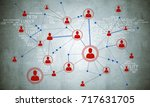background image with social... | Shutterstock . vector #717631705