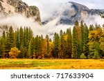 yosemite national park valley... | Shutterstock . vector #717633904