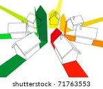 seven houses certified in seven ... | Shutterstock . vector #71763553