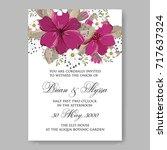anemone  peony wedding... | Shutterstock .eps vector #717637324