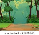 jungle background   pleasant... | Shutterstock . vector #71763748