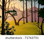 jungle background   pleasant...   Shutterstock . vector #71763751