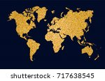 world map symbol concept... | Shutterstock .eps vector #717638545