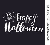 halloween greetings card. from... | Shutterstock .eps vector #717641101