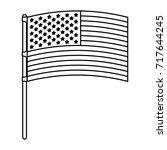 flag united states of america... | Shutterstock .eps vector #717644245