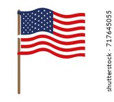 flag united states of america... | Shutterstock .eps vector #717645055