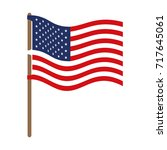 flag united states of america... | Shutterstock .eps vector #717645061