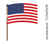 flag united states of america... | Shutterstock .eps vector #717645139