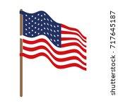 flag united states of america... | Shutterstock .eps vector #717645187