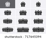 people group icons set. crowd... | Shutterstock .eps vector #717645394